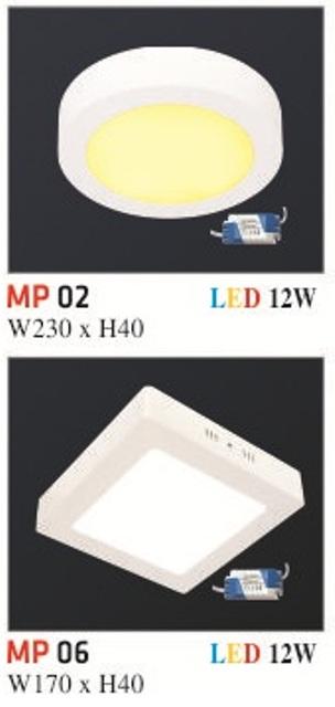 Đèn Mâm Nổi Phẳng Hufa MP 12W