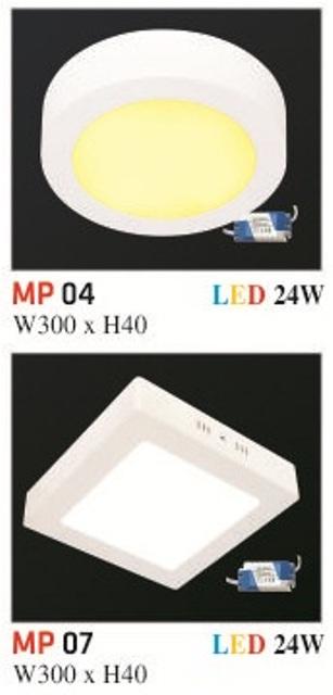 Đèn Mâm Nổi Phẳng Hufa MP 24W