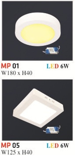 Đèn Mâm Nổi Phẳng Hufa MP 6W
