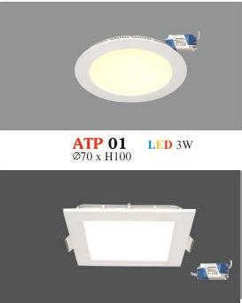 Đèn Led Siêu Mỏng Hufa 3W